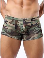 cheap -Men's Print Boxers Underwear - Normal Low Waist Army Green M L XL