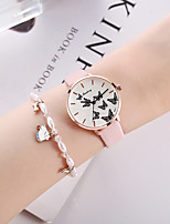 cheap -Women's Quartz Watches Quartz Butterly Style Stylish Fashion Chronograph PU Leather Pink Analog - Blushing Pink