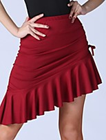 cheap -Latin Dance Skirts Pleats Ruching Women's Training Elastane