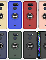 cheap -Case For LG LG K20 (2019) K40 Shockproof  Ring Holder Back Cover Solid Colored TPU PC Metal