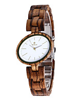 cheap -Women's Quartz Watches Quartz Modern Style Stylish Casual Water Resistant / Waterproof Analog White+Coffee Black Red / Wood