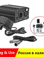 cheap -48V Phantom Power For BM 800 Condenser Microphone Studio Recording Karaoke Supply Equipment EU Plug Audio Adapter DC Power