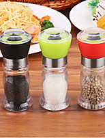 cheap -130mm Acrylic Manual Pepper Grinder Salt Spices Mill Shaker Transparent Grinding Tool Milling Cutter Kitchen Dinner