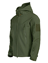 cheap -Men's Hiking Softshell Jacket Hiking Jacket Outdoor Waterproof Warm Comfortable Top Black / Army Green / Grey