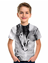 cheap -Kids Boys' Basic Holiday Geometric Print Short Sleeve Tee Gray