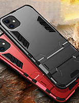 cheap -iPhone11Pro Max Mecha Anti-drop Anti-fingerprint Mobile Phone Case XS Max With Bracket PC Back Cover 6 7 8Plus SE 2020 Protective Case