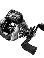 cheap -Fishing Reel Baitcasting Reel 6.3:1 Gear Ratio 16 Ball Bearings Easy to Carry for Freshwater Fishing