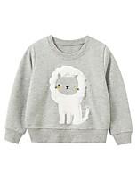 cheap -Kids Boys' Basic Lion Animal Print Long Sleeve Hoodie & Sweatshirt Gray