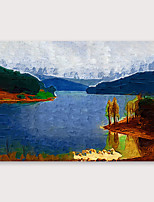 cheap -IARTS®Hand Painted scenery Oil Painting   with Stretched Frame For Home Decoration