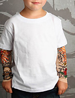 cheap -Toddler Boys' Street chic Geometric Long Sleeve Tee White