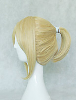 cheap -Synthetic Wig Cosplay Wig Kagamine Len Vocaloid Straight Cosplay Asymmetrical Short Bob Wig Short Blonde Grey Natural Black Synthetic Hair 12 inch Men's Cosplay Black Blonde hairjoy