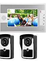 cheap -Wired 7 Inch Hands-free 800*480 Pixel Two To One Video Doorphone Intercom Infrared Night Vision Camera