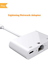 cheap -Unestech ZS-KL21822-1 USB 3.1 to USB 2.0 / RJ45 / Lightning USB Hub 3 Ports High Speed / OTG / Support Power Delivery Function
