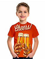 cheap -Kids Boys' Basic Geometric Print Short Sleeve Tee Orange