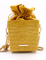 cheap -Women's Zipper / Chain PU Leather Crossbody Bag Leather Bag Solid Color White / Black / Purple