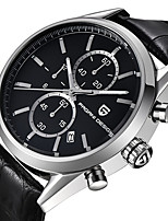 cheap -PAGANI Men's Sport Watch Quartz Modern Style Stylish Casual Water Resistant / Waterproof Stainless Steel Leather Analog - Black / Silver White+Silver Black / Calendar / date / day / Noctilucent