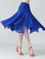 cheap -Ballroom Dance Skirts Solid Women's Performance Daily Wear High Polyester