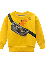 cheap -Kids Boys' Basic Geometric Long Sleeve Hoodie & Sweatshirt Yellow