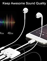 cheap -3 in 1 Dual 3.5mm Headphone Splitter with Charge Adapter    AUX Dual Audio Compatible for ipad ipod iPhone Support to Music and Charge