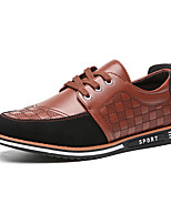 cheap -Men's Spring / Fall Casual / British Daily Party & Evening Oxfords Walking Shoes Faux Leather Non-slipping Wear Proof Light Brown / Black / Blue