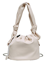 cheap -Women's Chain PU Leather / Polyester Top Handle Bag Handbags Solid Color White / Black / Khaki / Fall & Winter
