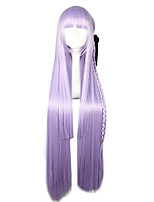 cheap -Synthetic Wig Cosplay Wig Kirigiri Kyouko Dangan Ronpa Straight Cosplay Braid Wig Long Purple Synthetic Hair 32 inch Women's Cosplay Purple
