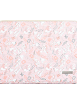 cheap -11.6 Inch Laptop / 12 Inch Laptop / 13.3 Inch / 14 Inch / 15.6 Inch Laptop Sleeve PU Leather Pink Floral Print / Printing for Women Waterpoof Shock Proof