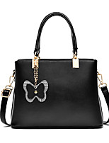 cheap -Women's Bags PU Leather Top Handle Bag Bow(s) for Wedding / Event / Party Black / Purple / Red / Yellow / Gray / Fall & Winter