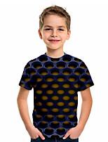 cheap -Kids Boys' Sports & Outdoors Basic Holiday 3D Short Sleeve Tee Blue