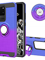 cheap -Case For Samsung A7(2018) A51 A71 J4Plus J6Plus S9 S9Plus S10 S10E S10Plus S20plus S20 S20Ultra Note 9 10 10Plus 10Pro Shockproof with Stand Back Cover Color Gradient TPU PC