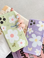 cheap -Case For APPLE iPhone 7 8 7plus 8plus XR XS XSMAX X SE 11 11Pro 11ProMax  Pattern Back Cover TPU Word Phrase  Flower cute