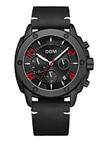 cheap -DOM Men's Steel Band Watches Quartz Sporty Casual Water Resistant / Waterproof Stainless Steel Genuine Leather Black Analog - Digital - White Black Black / White / Calendar / date / day