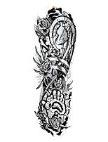 cheap -1Sheets Full Arm Temporary Tattoo Stickers Waterproof Temporary Tattoo,Black Body Tattoo Stickers For Women,Men ,QB3025-3032