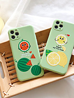 cheap -Case For Apple iPhone 7 iPhone 7P iPhone 8 iPhone 8P iPhone X iPhone iPhone XS iPhone XR iPhone XS max iPhone 11 iPhone 11 Pro iPhone 11 Pro Max iPhoneSE (2020) Pattern Back Cover Food Cartoon TPU