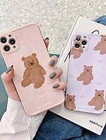 cheap -Case For APPLE  iPhone7 8 7plus 8plus  XR XS XSMAX  X SE  11  11Pro   11ProMax Pattern Back Cover Word Phrase Cartoon TPU bear emboss effect