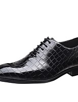 cheap -Men's Summer / Fall Daily Oxfords PU Black / Yellow / Red