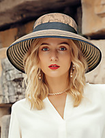 cheap -Headwear Casual Polyester Straw Hats with Lace 1pc Casual / Daily Wear Headpiece