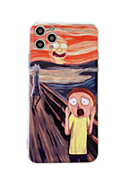 cheap -Case For Apple iPhone 11 / iPhone 11 Pro / iPhone 11 Pro Max Shockproof Rick and Morty Back Cover Flower TPU