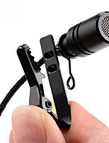 cheap -Mini Microphone Omnidirectional Metal Microphone 3.5mm Jack Lavalier Tie Clip Microphone Mini Audio Mic for Computer Laptop Mobile Phone