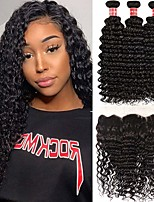 cheap -3 Bundles Hair Weaves Brazilian Hair Deep Wave Human Hair Extensions Remy Human Hair 100% Remy Hair Weave Bundles 300 g Natural Color Hair Weaves / Hair Bulk Human Hair Extensions 8-28 inch Natural