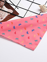 cheap -Dog Dog Bandana Dog Bibs Scarf Triangle Bibs Accessories Dog Clothes Adjustable Fuchsia Blue Pink Costume Husky Golden Retriever Corgi Cotton Polyster Bowknot Casual / Sporty Cute S M