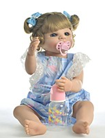 cheap -KEIUMI 22 inch Reborn Doll Baby & Toddler Toy Reborn Toddler Doll Baby Girl Gift Cute Washable Lovely Parent-Child Interaction Full Body Silicone 22D03-C323-H37-T16 with Clothes and Accessories for