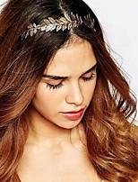 cheap -Women's Hair Sticks For Festival Leaf Alloy Silver Golden 1pc
