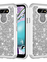 cheap -Case For  LG K30  LG K10 2018  LG K10 (2017) K8 2018  K9 Aristo 2  LV3(2018) Shockproof  Glitter Shine Back Cover Solid Colored  Glitter Shine TPU  PC