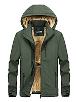 cheap -Men's Hiking Windbreaker Outdoor Windproof Warm Winter Jacket Ski / Snowboard Winter Sports Black / Army Green / Khaki / Dark Blue