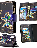 cheap -Case For Huawei  P30 Lite Honor 10 Lite 8A 9A 9S 9X Lite P40 Lite E Y5P Y6P Y7P Wallet Card Holder with Stand Full Body Cases Butterfly PU Leather Huawei P Smart Z P Smart 2020 Y9 Prime 2019