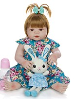 cheap -KEIUMI 22 inch Reborn Doll Baby & Toddler Toy Reborn Toddler Doll Baby Girl Gift Cute Washable Lovely Parent-Child Interaction Full Body Silicone 23D03-C334-H22-T22 with Clothes and Accessories for