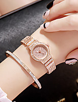 cheap -Women's Quartz Watches Quartz Stylish Fashion Casual Watch Silver Analog - Rose Gold Gold Silver One Year Battery Life