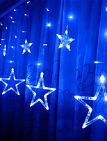 cheap -12 Stars Curtain String Lights  2.5M  216 LEDs  4 Colors Available Waterproof Creative Christmas Wedding Decoration Can Be Connected in Series  Garden Yard Decoration Lamp Night Light 220-240 V 1 set