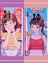 cheap -Case For Huawei Huawei P30 P30 Pro Huawei P40 P40 Pro Huawei Mate 30 Mate 30 Pro Huawei Nova 5 6 7 Huawei Nova 7 Pro Huawei Honor 30 Honor 30 Pro Pattern Back Cover Sexy Lady Cartoon TPU